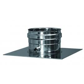 Rookkanaal RVS, plaat met condens afvoer, diameter Ø80