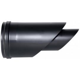 Concentrisch rookkanaal RVS, horizontaal eindstuk, diameter Ø80-130mm