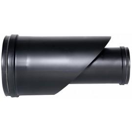 Concentrisch rookkanaal RVS, enkelwandig aansluitstuk, diameter Ø80-130mm