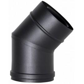 Concentrisch rookkanaal RVS, 45° bocht, diameter Ø100-150mm