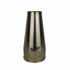 Dubbelwandig rookkanaal RVS, Conische open kap, diameter Ø100-150