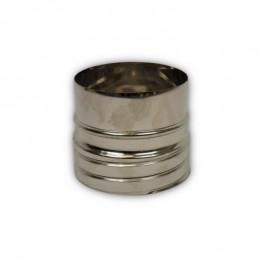 Flexibel rookkanaal, verbindingsstuk FLEX-EW Ø80mm (mannelijk)