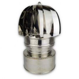 Rookkanaal RVS, aspiromatic, diameter Ø130-180