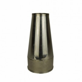 Dubbelwandig rookkanaal RVS, Conische open kap, diameter Ø400-450