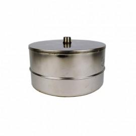 Dubbelwandig rookkanaal RVS, Deksel/condensafvoer, diameter Ø400/450