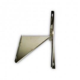 Triangel beugel RVS t.b.v. stoelconstructie Ø500