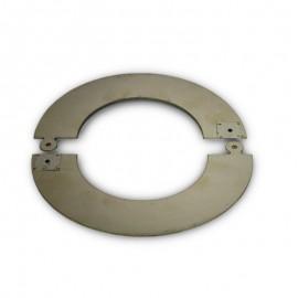 RVS rozet deelbaar, diameter Ø120