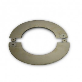 RVS rozet deelbaar, diameter Ø150