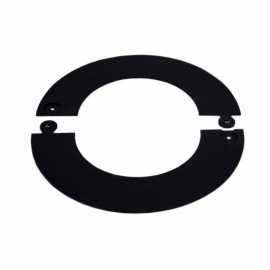 Rozet zwart deelbaar, diameter Ø140