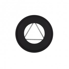 Rozet dikwandig staal, diameter Ø140, met spanveren