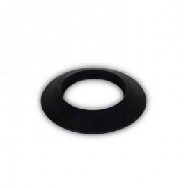 Rozet siliconen zwart, diameter Ø80