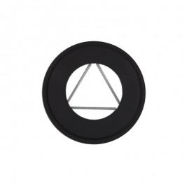 Rozet dikwandig staal, diameter Ø100, met spanveren