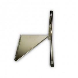 Triangel beugel RVS t.b.v. stoelconstructie Ø450