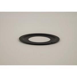 Rozet zwart klein, diameter Ø80mm.