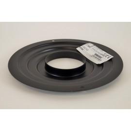 Rozet zwart groot, diameter Ø80mm.