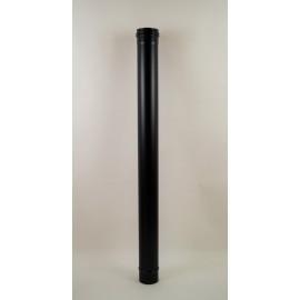 pelletkachel rookkanaal zwart RVS, diameter Ø100mm, 1000mm pijp