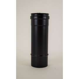 Pelletkachel rookkanaal zwart RVS, diameter Ø100mm, 250mm pijp.
