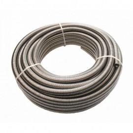 """Waterleiding RVS geribbelde slang, 1"""" duim 10 meter"""