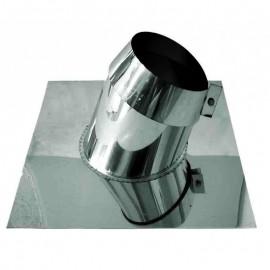 Dubbelwandig rookkanaal RVS, 5°-20° dakplaat hellend, diameter Ø300-350