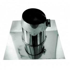 Dubbelwandig rookkanaal RVS, 0°-5° dakplaat plat, diameter Ø300-350