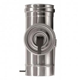 Rookkanaal RVS, Inspectiesectie 200mm, diameter Ø400