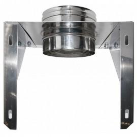 Rookkanaal RVS, Stoelconstructie, diameter Ø230