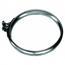 Rookkanaal RVS, Klemband, diameter Ø400