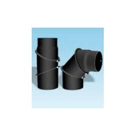 Kachelpijp dikwandig staal, diameter Ø150, bocht verstelbaar tot 90°