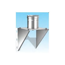 Concentrisch rookkanaal RVS, diameter Ø100-150, stoelconstructie met condensdop