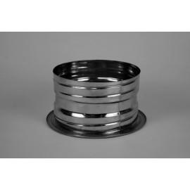 Dubbelwandig rookkanaal RVS, aansluitstuk dubbelwandig - flexibel, diameter Ø80-130