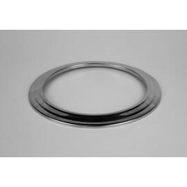 Rookkanaal RVS, Rozet, diameter Ø80
