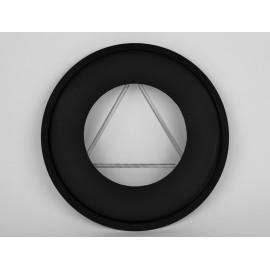 Rozet dikwandig staal, diameter Ø130, met spanveren