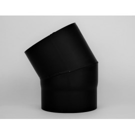 Kachelpijp dikwandig staal, diameter Ø140, 30° bocht