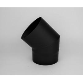 Kachelpijp dikwandig staal, diameter Ø120, 45° bocht