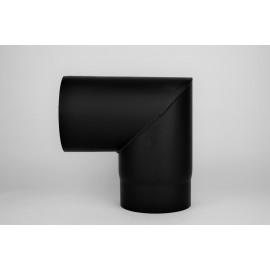 Kachelpijp dikwandig staal, diameter Ø200, 90° hoek