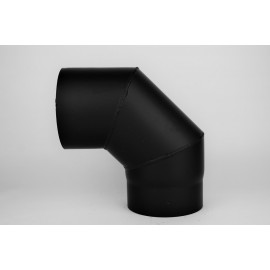 Kachelpijp dikwandig staal, diameter Ø120, 90° bocht, 3 segment
