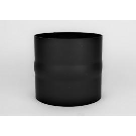 Kachelpijp dikwandig staal, diameter Ø120, verbindingsstuk mannelijk