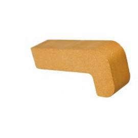 Vuurvaste steen 220x100x55mm (hoeksteen)