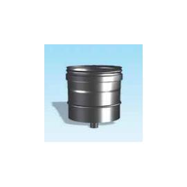 Enkelwandig rookkanaal RVS, condensdop, diameter Ø160