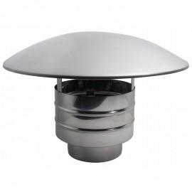 Enkelwandig rookkanaal RVS, trekkende regenkap, diameter Ø350