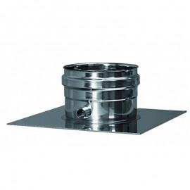 Rookkanaal RVS, plaat met condens afvoer, diameter Ø350