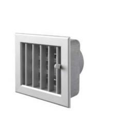 Ventilatierooster 100x100mm, aansluiting Ø60, kleur aluminium