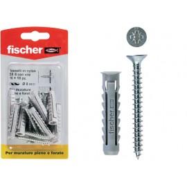 Fischer Schroeven met nylon pluggen, 25 stuks, sx8sy