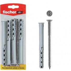 Fischer Schroeven met nylon pluggen, 15 stuks, 8x80mm