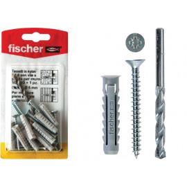 Fischer schroeven met nylon pluggen, inclusief boortje, w100sx6k