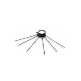 Verstelbaar kledingrek / wasdroger, voor kachelpijp, diameter Ø80-130mm