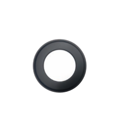 Rozet zwart, diameter Ø180mm
