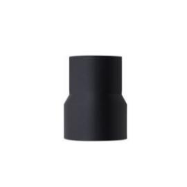 Verloopstuk zwart, geëmailleerd staal, diameter 120mm - 80mm