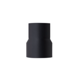 Verloopstuk zwart, geëmailleerd staal, diameter 130mm - 120mm