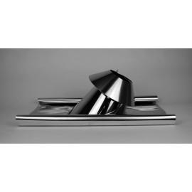 Dakdoorvoer (5-30°) met aluminium/loodslab en stormkraag Ø120mm